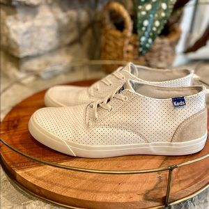 Keds Mid-Top Perforated Leather Sneaker